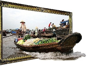 4d, Boat, frame, China