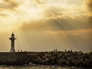 maritime, Anglers, Lighthouse