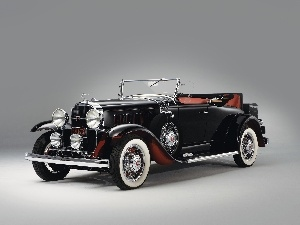 antique, Automobile, Buick, Black
