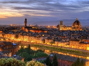 Arno, River, Italy, Florence