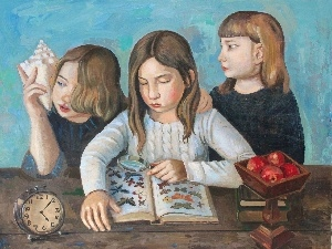 Art Image, friends, Three, girls