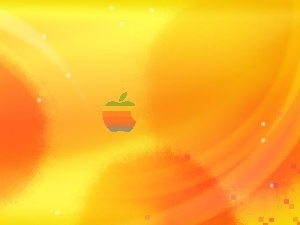 Background, tinge, Apple, Yellow