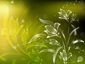 background, Flowers, green ones