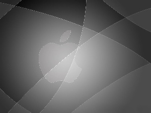Grey, background, Apple