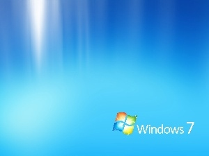 logo, background, Blue, Windows 7, The luminous
