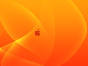 background, Orange, Tiny, streaks, Apple