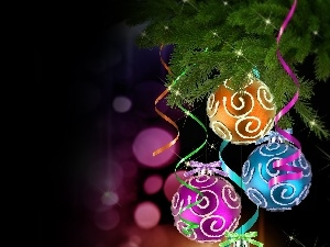 baubles, color, Christmas, decor