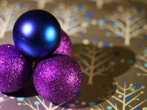 baubles, purple