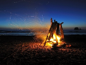 Sparks, Beaches, fire