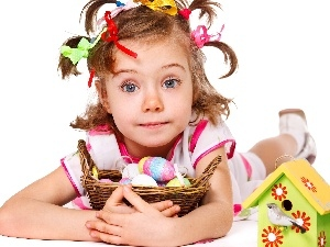 Easter, Blessing, girl