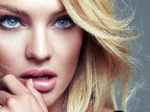 Blonde, make-up, Candice Swanepoel