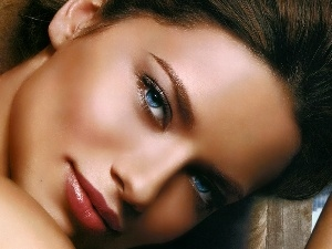 Blue, Eyes, Adriana Lima