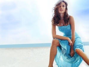 Blue, Beaches, Alessandra Ambrosio, dress, model