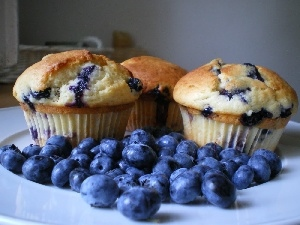 blueberries, Muffins