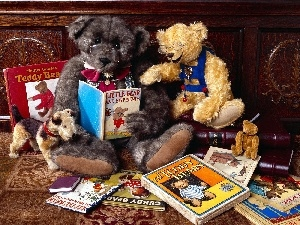 glasses, Books, bear