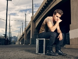 box, under-shirt, Paul Wesley, actor