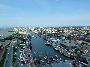 town, Bremerhaven, panorama