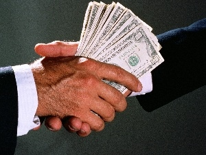 bribe, money, hands, grip