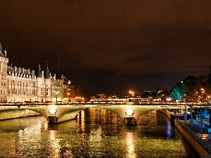 France, bridge, Paris, Seine