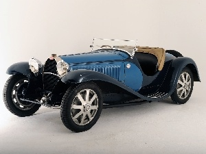Bugatti 41 Royale, antique, blue, Black
