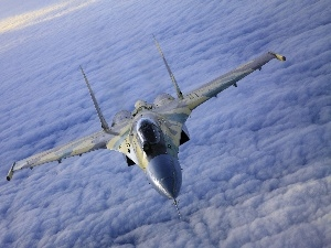 by, flight, fighter, clouds, F-14