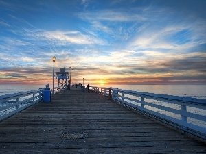 California, San Clemente, pier, USA, sea