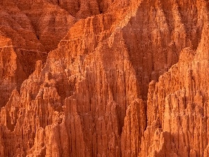 rocks, canyon, Red