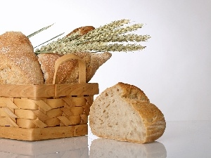 cereals, Ears, basket, bread
