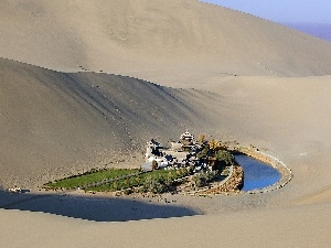 China, oasis, Dunhuang, Town