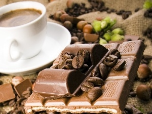 coffee, chocolate, cup