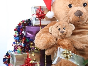 gifts, christmas, bear