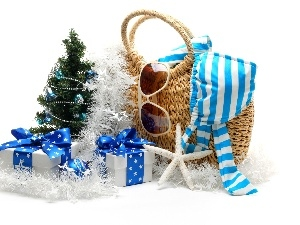 christmas tree, gifts, Packages