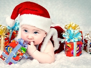 christmas, gifts, Kid, holly