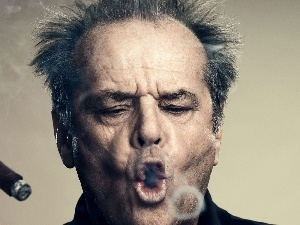 cigar, Jack Nicholson, a man, actor