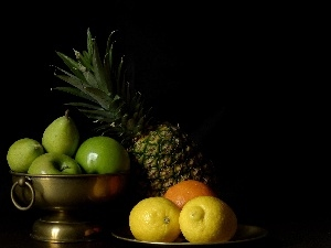 apples, citrus, ananas