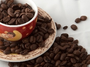 coffee, grains, Coloured, cup