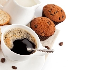 cup, coffee, Muffins