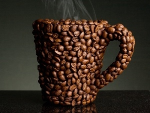 grains, coffee, Cup
