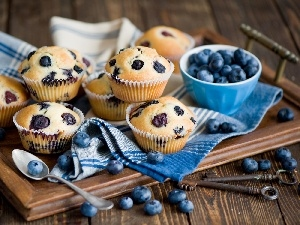 blueberries, composition, Muffins