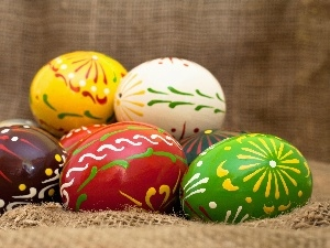 composition, Easter, color, eggs