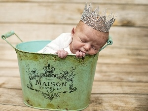 Baby, Crown, Sleeping