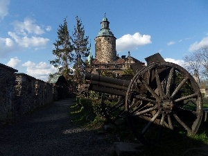 Czocha Castle, defensive, gun, wall