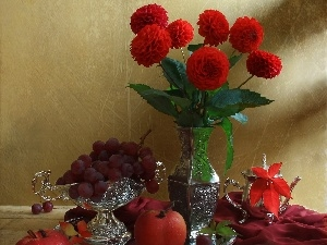 dahlias, Red, Toyota Silver, Fruits, service