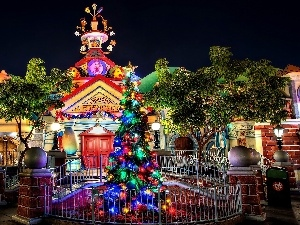 Christmas, decor, Disneyland