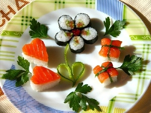 Sushi, dish, color