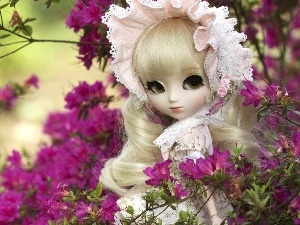 doll, Flowers