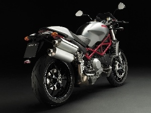 double, exhausts, Ducati Monster S4R