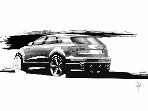 Drawing, Project, Audi Q5