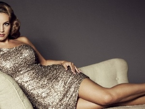 dress, Armchair, Kelly Brook