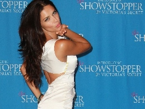 dress, White, Adriana Lima, Kiss